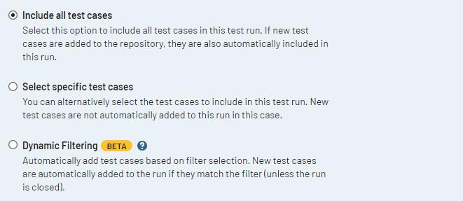 テスト項目の設定